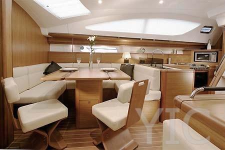 04 yacht charter croatia sailing jeanneau sun odyssey 45ds salon2