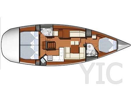 07 yacht charter croatia sailing jeanneau sun odyssey 45ds layout