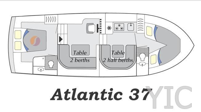 atlantic 37 motor yacht in croatia charter on yachtsincroatia