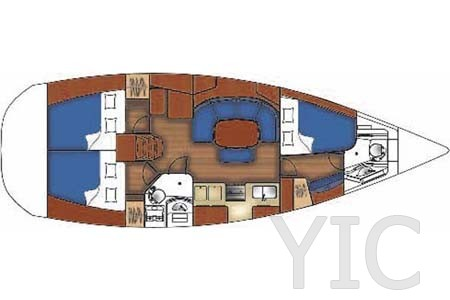 beneteau oceanis 393 layout