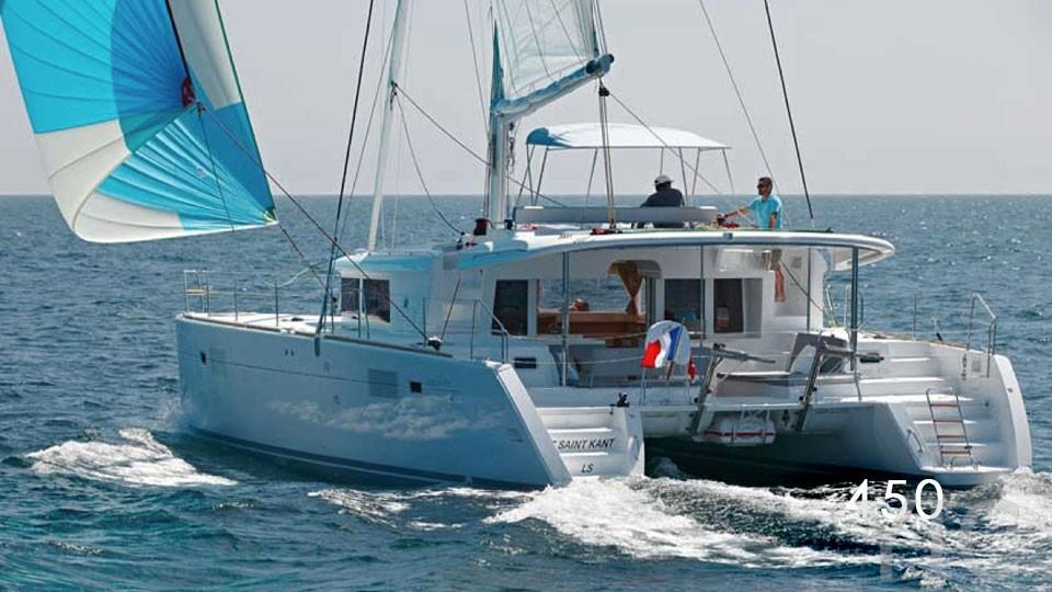 charter catamaran lagoon 450 trogir