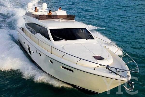 ferretti 630 motor yacht in croatia charter on yachtsincroatia