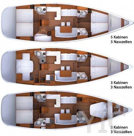 jeanneau 53 sailing yacht in croatia charter on yachtsincroatia