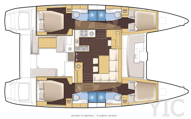 lagoon 450 catamaran layout