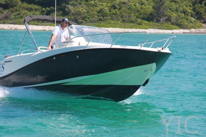 motor boat quicksilver 675 charter yacht in croatia