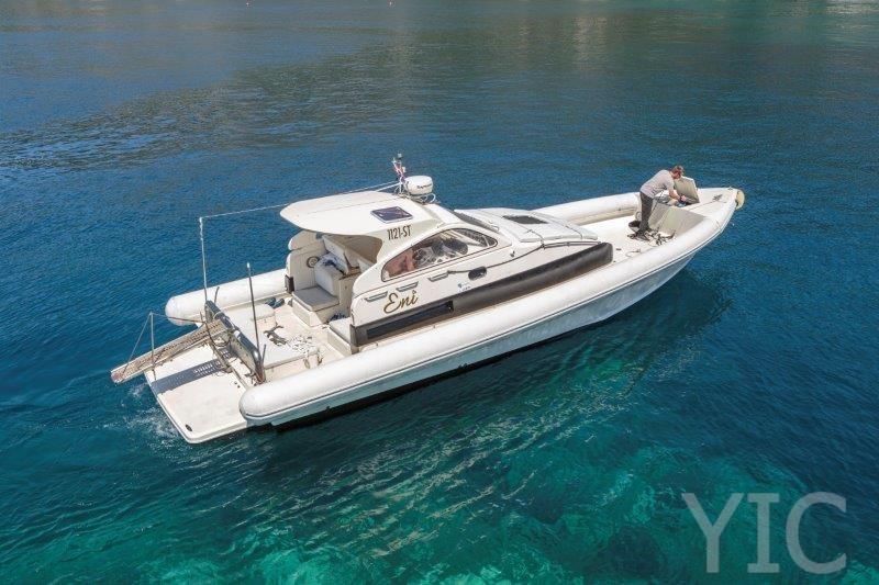 motorni brod lomac, airone40 charter, transfer