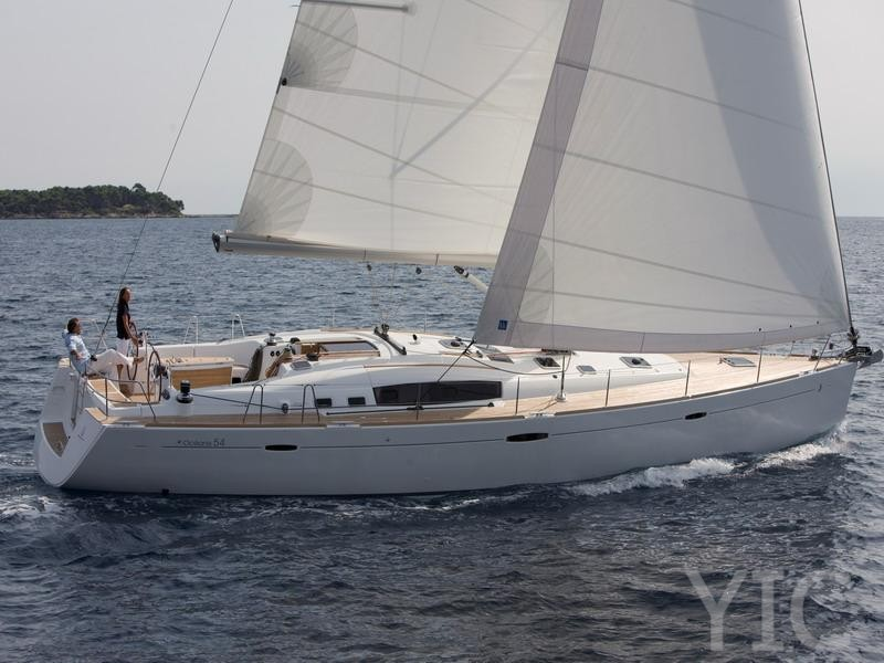 oceanis 54 sailing yacht in croatia charter on yachtsincroatia