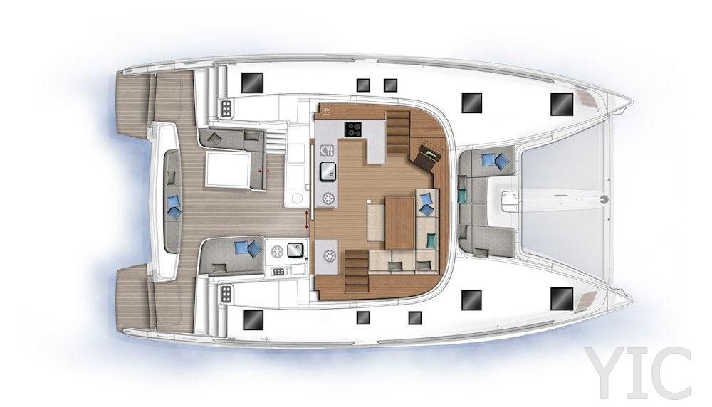 rent a catamaran lagoon 46 kornati new 2021 layout