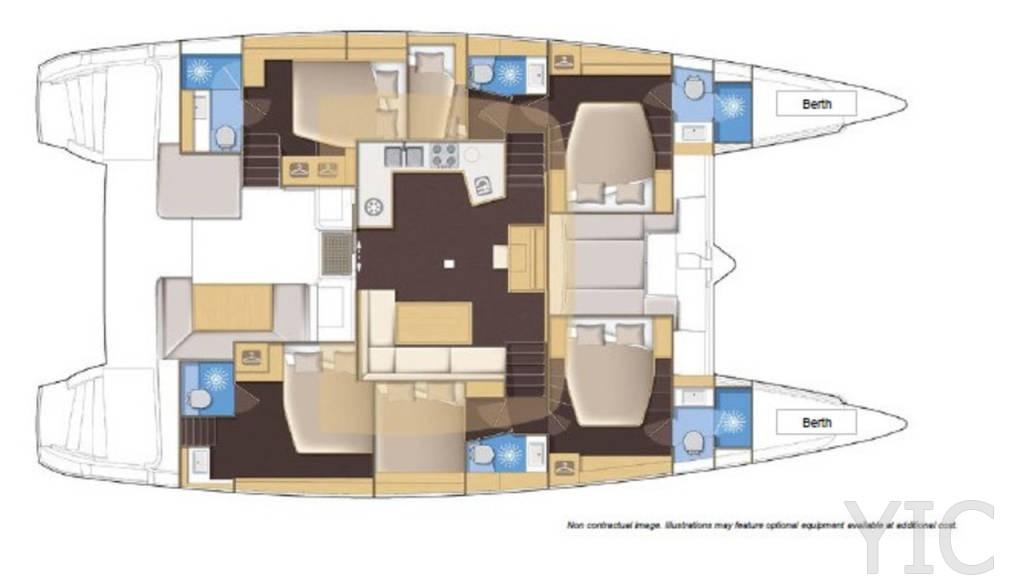 rent a catamaran lagoon 52 f kaŠtela croatia 2021 layout