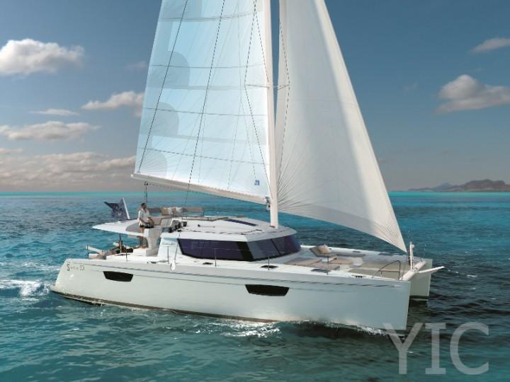 saba 50 quintet, catamaran charter