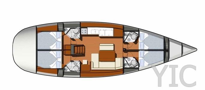 sun odyssey 49i sailing yacht in croatia charter on yachtsincroatia