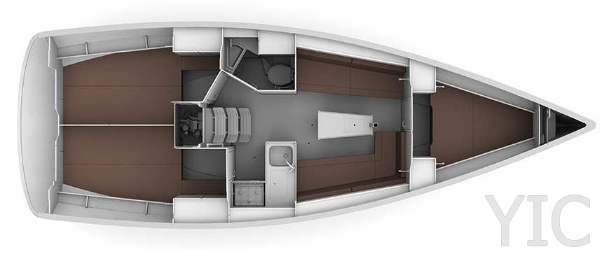 waypoint yacht charter croatia bavaria 34 take five layout