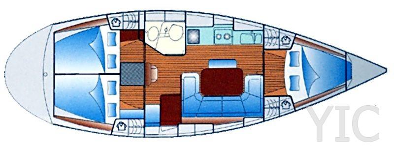 yacht charter croatia bavaria 37 mondo layout