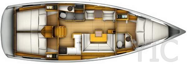 yacht charter croatia sun odyssey 419 2019 layout id76613